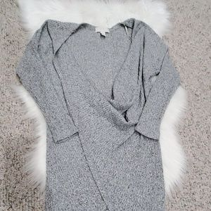 Long Grey Pull Over Shrug